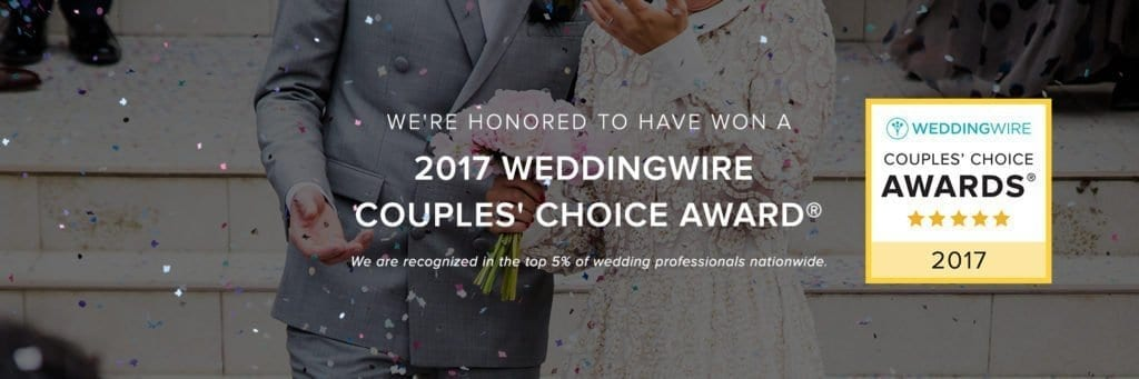 Alyson Nicole Honored For Excellence With 2017 WeddingWire Couples' Choice Award®