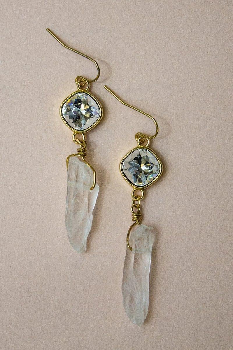 Raeghan - Crystal Quartz Earrings